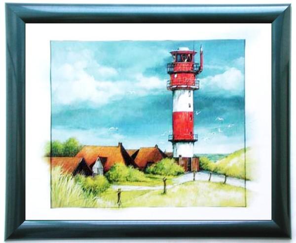 Wandbild Rotweißer Leuchturm am Tag