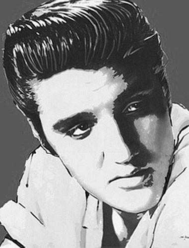 Elvis Portrait Poster 40x50 cm