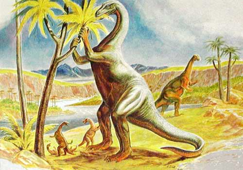 Plateosaurus Postkarte