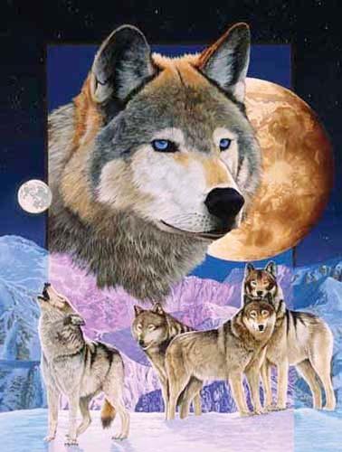 Wölfe, Blue Moon by Meiklejohn Graphics