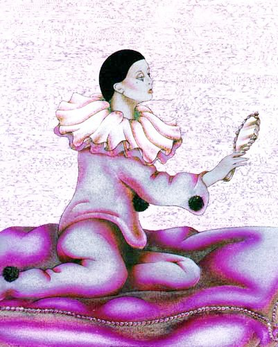 Pierrot und Spiegel by J. A. Smith