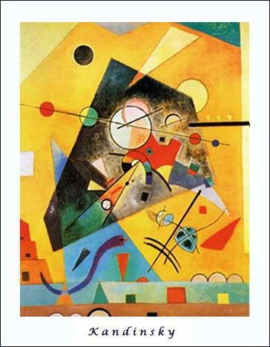 Kunstdruck 56x71 cm: Harmonie Tranquille, Kandinsky Wassily