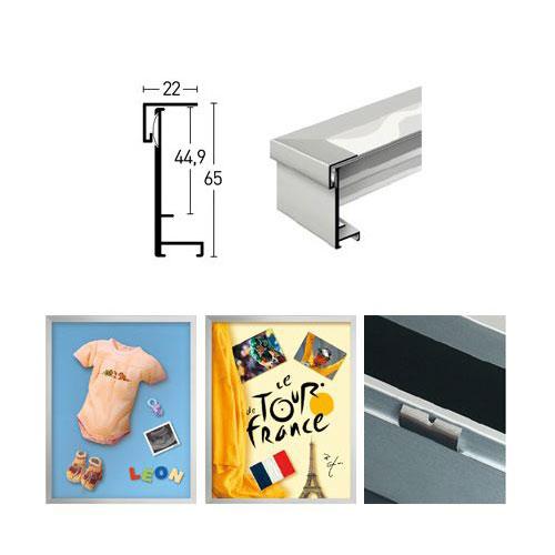 aluminium objektrahmen 70x90 cm frame box trikot rahmen. Black Bedroom Furniture Sets. Home Design Ideas