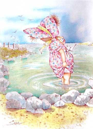 Mädchen im Wasser by Simon