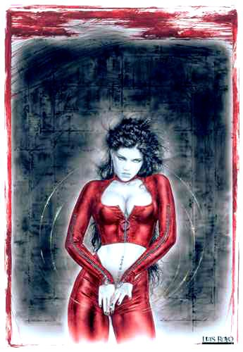 Red Prohibited Luis Royo Poster