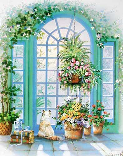 Blumen am Fenster am by Andres Orpinas *