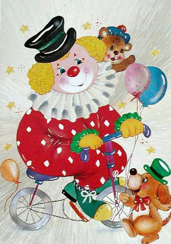 Postkarte Clown