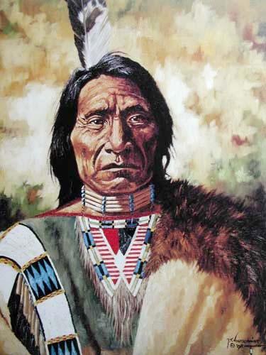 Indianer Portrait by Vogtschmidt