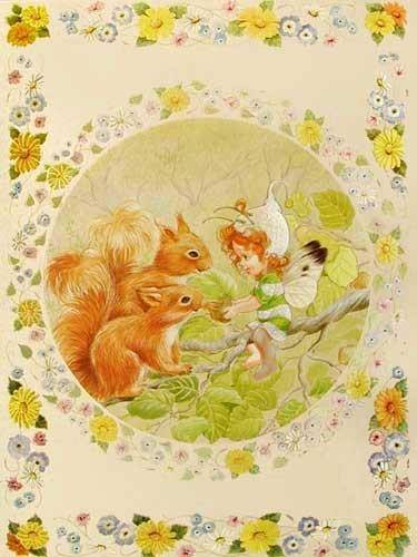 Susie, Feenkind mit Eichhörnchen Alu Effekt- Bild