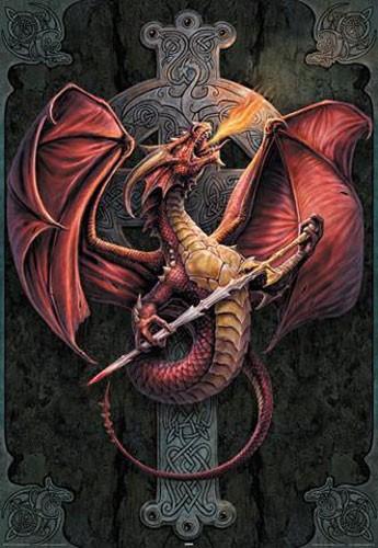 Keltischer Drache Poster
