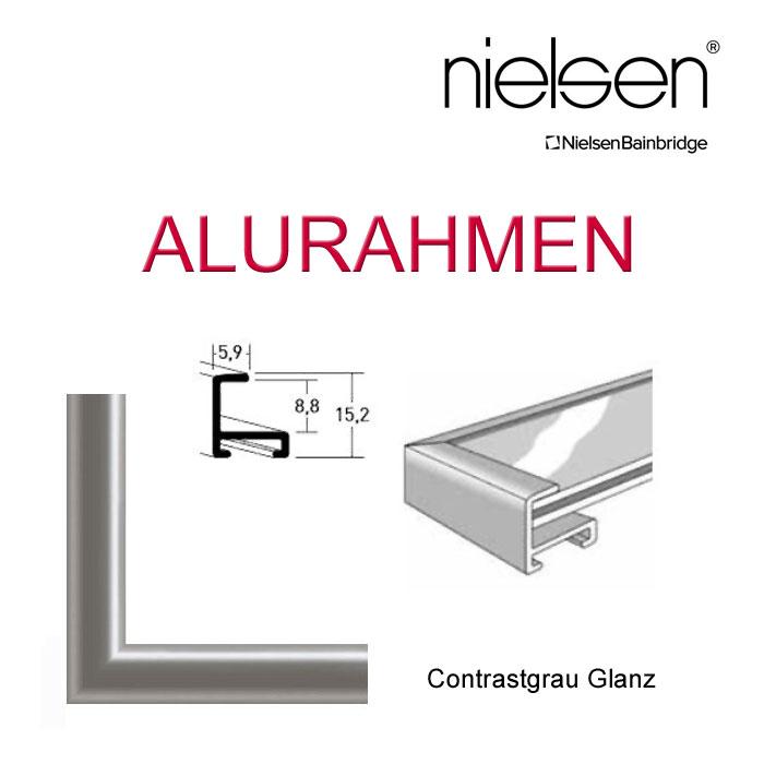 Nielsen Alurahmen 40x100 bzw. 100x40 in Grau glanz günstig kaufen