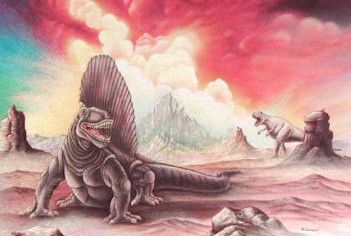 Dimetrodon Postkarte