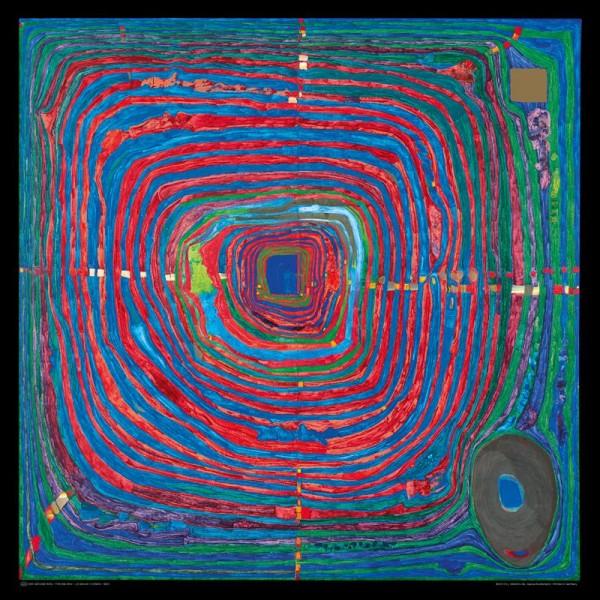 Der große Weg, Hundertwasser Kunstdruck