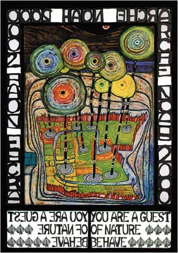 Arche Noha Grüne Version - Hundertwasser Poster