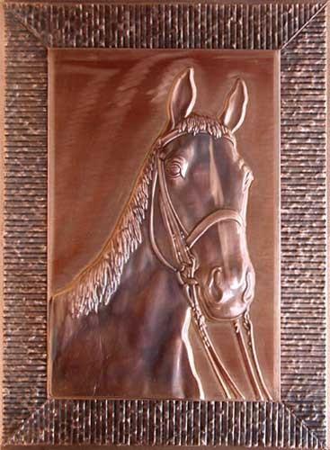 Pferdekopf - Kupferbild