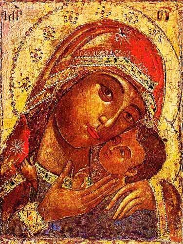 """Maria mit Jesus """"Wegweiserin"""" Kunstdruck 15x20 cm"""