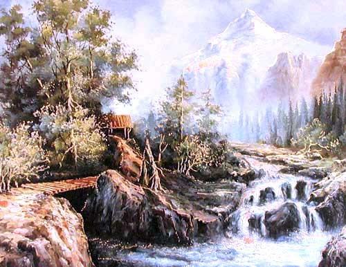Landschaft und Fluß by D. Perry