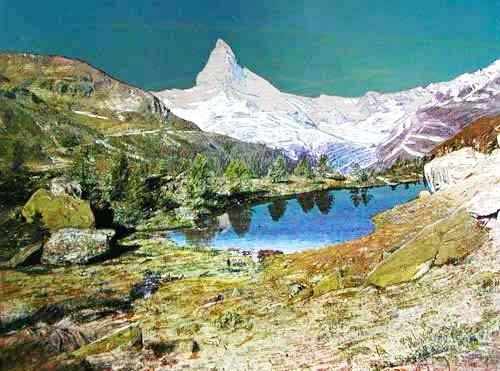 Matterhorn und Grindjisee Alu Bild