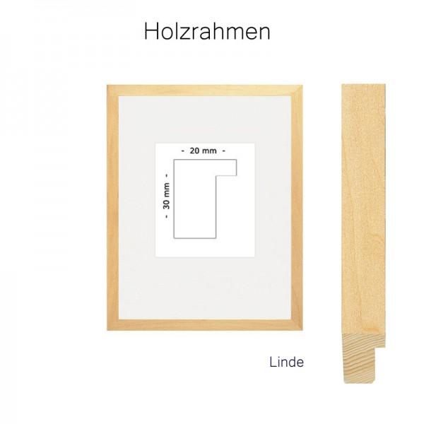 Holzrahmen quadratisch 30x30 Linde Leerrahmen für Leinwand