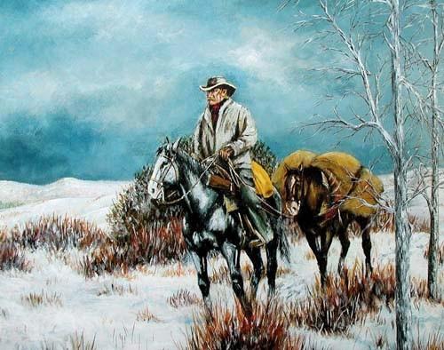 Cowboy im Winter