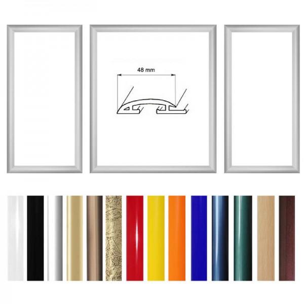 Wechselrahmen für 3 Teiler Triptychon, Profil 48 mm
