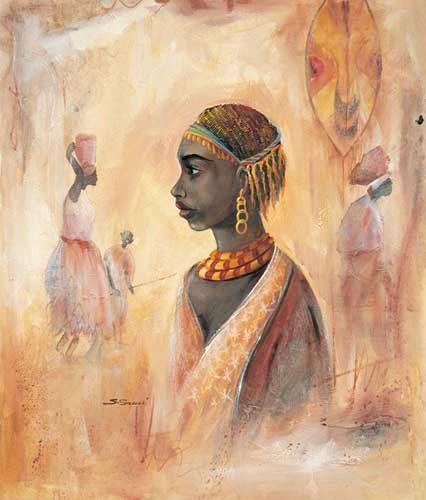 Afrikanische Kunst Poster