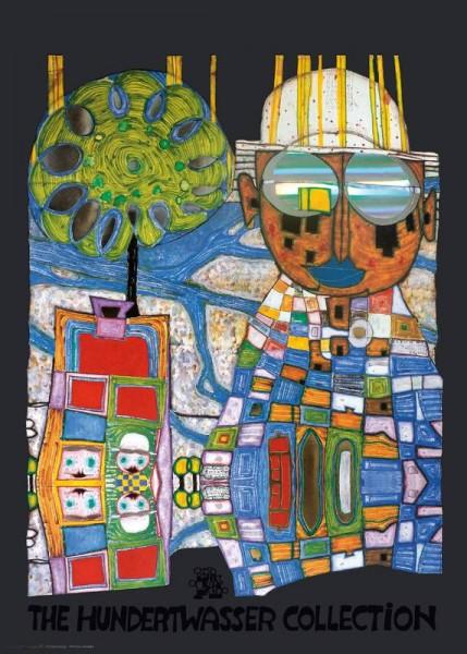 Tropenchinese Hundertwasser Kunstdruck