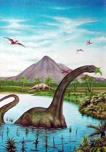 Apatosaurus/ Brontosaurus, Zamani Postkarte