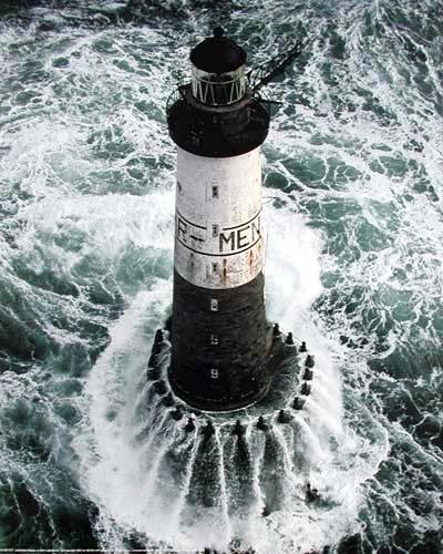 Bretagne Ar Men Leuchtturm Poster
