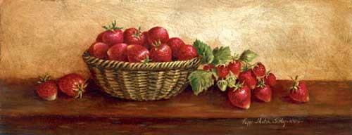 Stilleben mit Erdbeeren