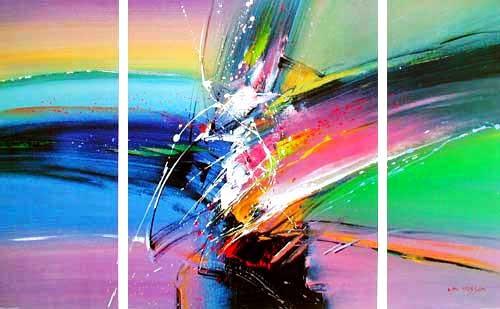 Abstraktes Bild - Triptychon