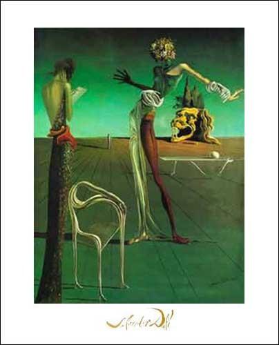Kunstdruck 40x50 cm: Femme a`Tete de` Roses, Dali Salvador