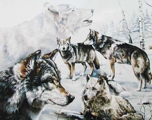 Wölfe im Schnee by Verdayle