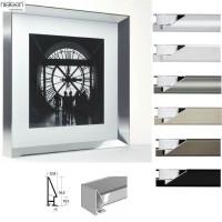 Bilderrahmen 100 x 150 cm aus Aluminium, Nielsen Galerie-Profil 56