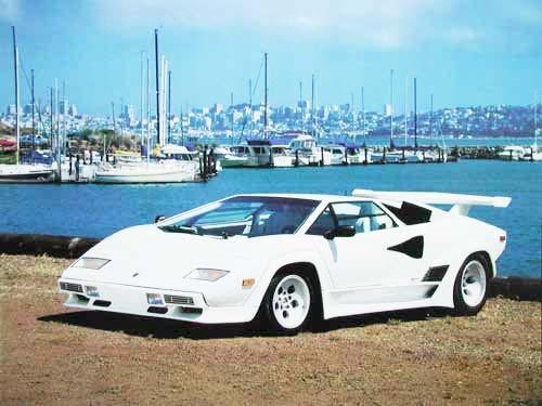 White Lambo by Ron Kimball