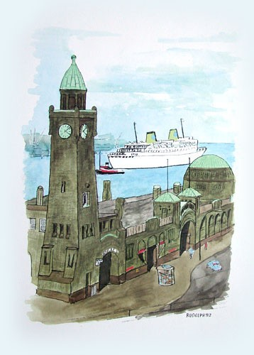 Hafenturm, Hamburg - Kunstdruck