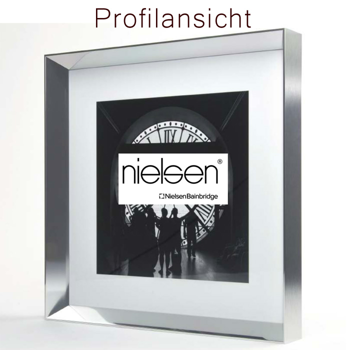 nielsen alu bilderrahmen 100x100 cm galerie profil 22 mm 6 farben. Black Bedroom Furniture Sets. Home Design Ideas