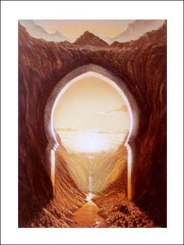 Golden evening, Georg Huber Poster