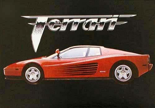 Postkarte Ferrari