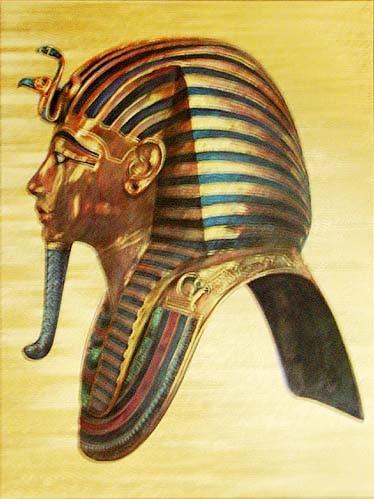 Tutanchamun Maske Profil Alu Bild