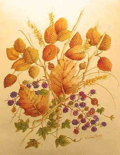 Herbststrauß, silber by Wilfried Brown