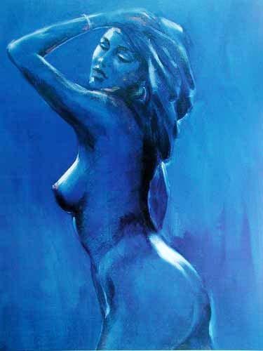 Akt in Blau II by Leonardo *