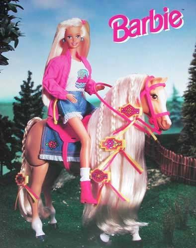 Barbie auf Pferd Poster
