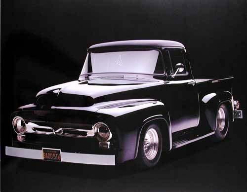 Ford Pick up 1956 F 100 schwarz Poster 40x50 cm