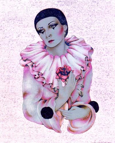 Pierrot und Rose by J. A. Smith