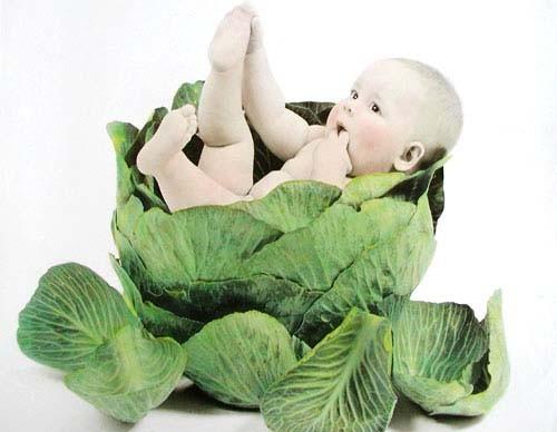 Baby im Kohl