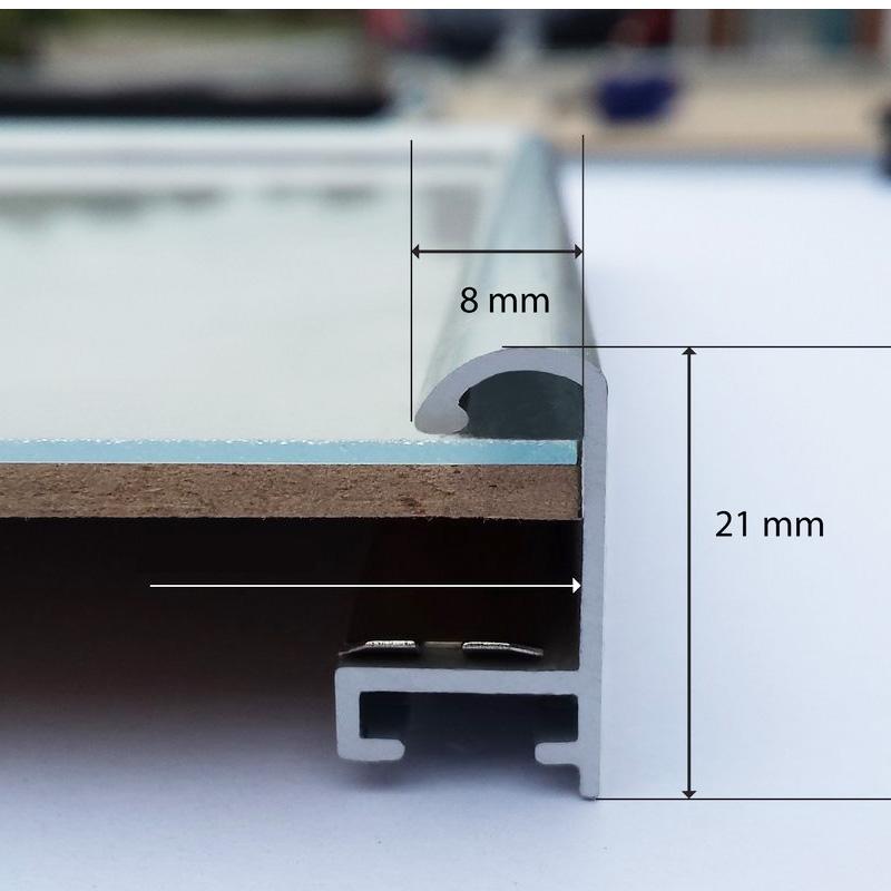 Aluminium Bilderrahmen quadratisch 80x80/ 80 x 80 günstig kaufen