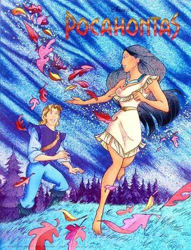 Pocahontas -Herbst Postkarte
