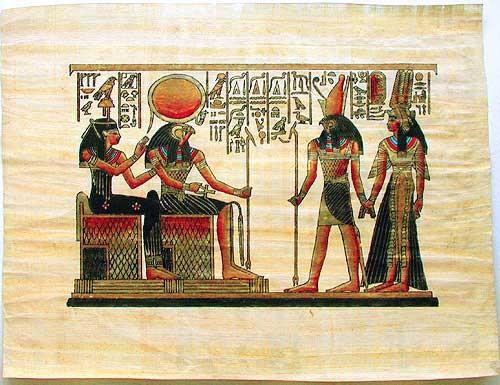 Amentet, Re-Harachte, Horus und Nefertari Papyrus