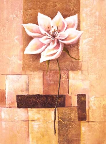 Exotische Blume mit abstraktem Hintergrund